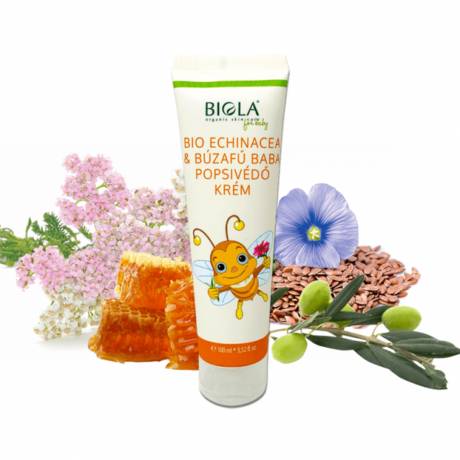 Bio Echinacea & Búzafű baba popsikrém | Biola