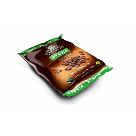 Belga étcsokoládé pasztilla steviával
