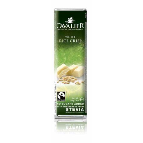 Belga cukormentes fehér csokoládé puffasztott rizzsel, steviával