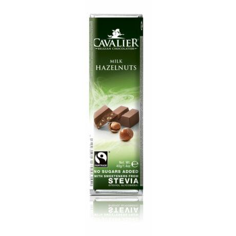 Belga cukormentes tejcsokoládé mogyorós  steviával