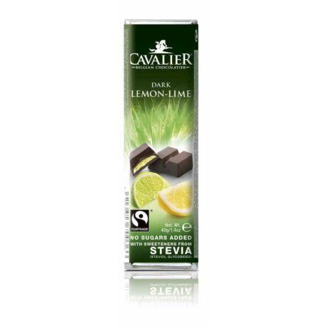 Belga cukormentes étcsokoládé citrom és lime krémmel, steviával