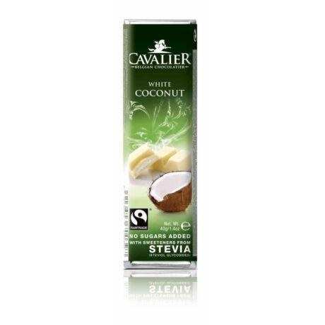 Belga Cukormentes Fehércsokoládé kókuszkrémmel steviával   Cavalier