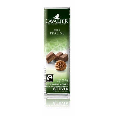 Belga cukormentes tejcsokoládé mogyorókrémmel, steviával