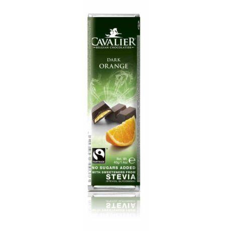 Belga cukormentes étcsokoládé narancskrémmel, steviával