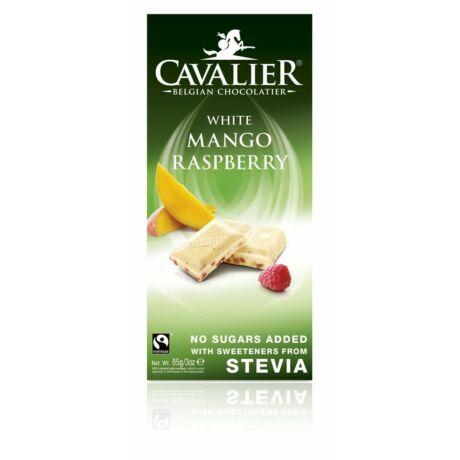 Belga cukormentes fehér csokoládé mangóval és málnával, steviával | Cavalier