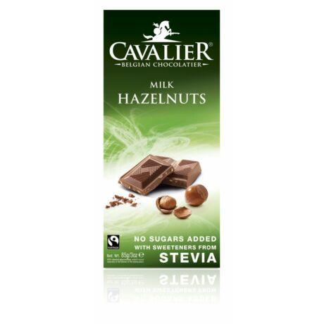 Belga Cukormentes Tejcsokoládé mogyoródarabokkal, steviával | Cavalier