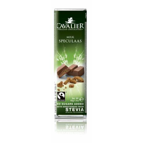 Belga Cukormentes Tejcsokoládé speculaas (keksz) darabokkal, steviával | Cavalier