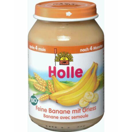 Bio Bébiétel finom banán búzadarával Holle