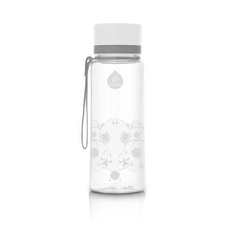BPA-mentes műanyag kulacs -  Fehér csipke