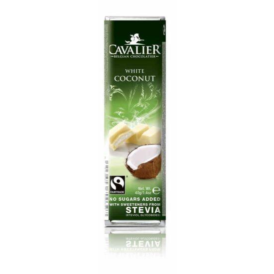 Belga cukormentes fehércsokoládé kókuszkrémmel steviával