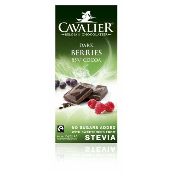 Belga cukormentes étcsokoládé bogyós gyümölcsökkel, steviával