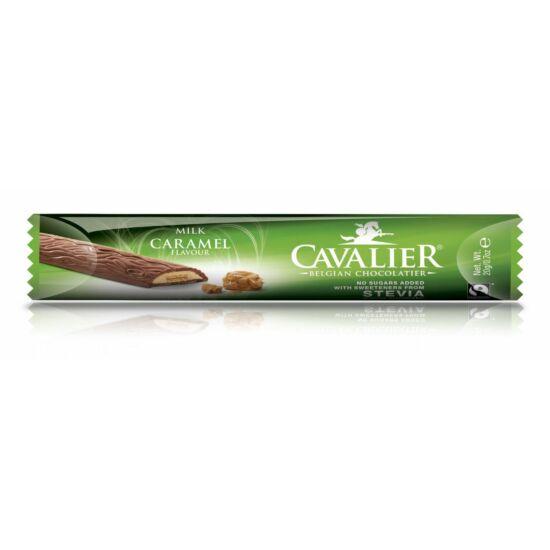 Belga cukormentes tejcsokoládé karamellkrémmel és ostyával, steviával