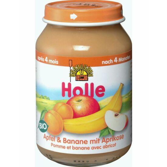 Bio Bébiétel alma banán sárgabarackkal Holle
