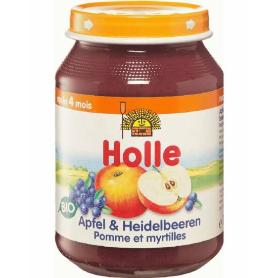 Bio Bébiétel alma fekete áfonyával Holle