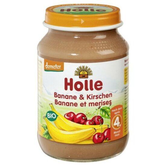 Bio Bébiétel banán cseresznyével Holle