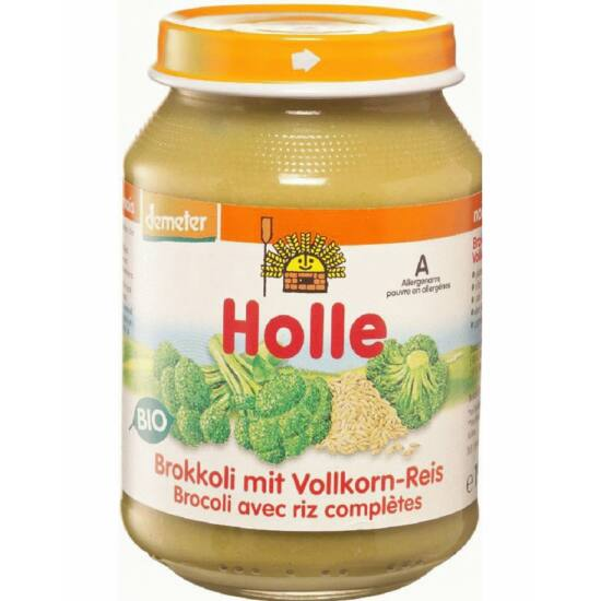 Bio bébiétel brokkoli teljes rizzsel Holle