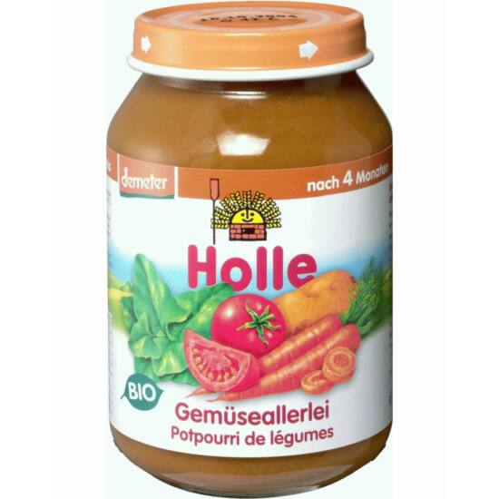 Bio bébiétel vegyes zöldségek Holle