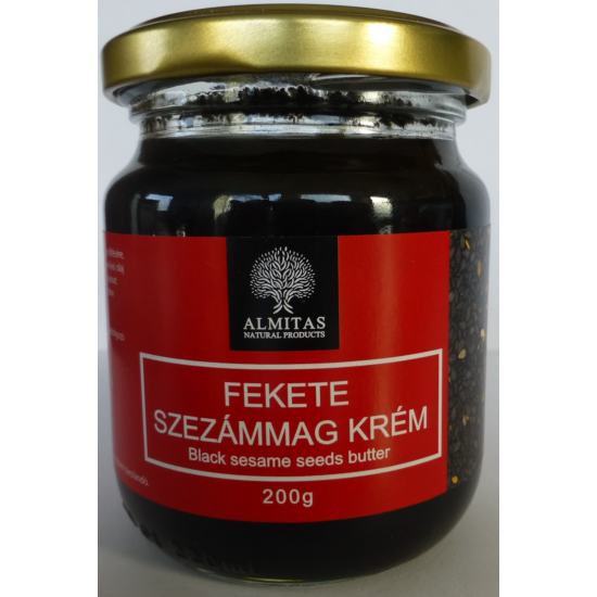 Fekete szezámkrém Almitas